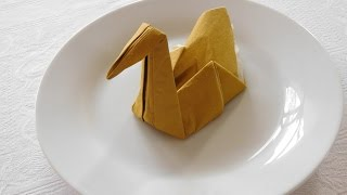 Swan Napkin Folding - How To Make A Swan Napkin - Easy Tutorial