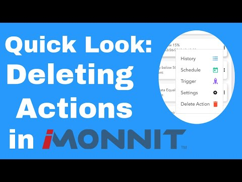 deleting actions in iMonnit