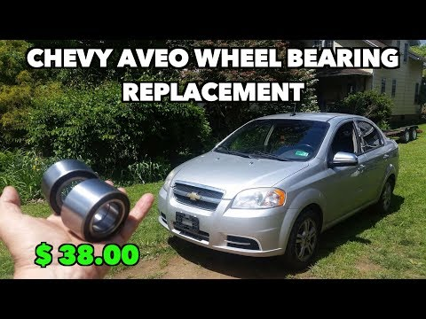Chevy Aveo 2002-11(Both) Front Wheel Bearing Replacement. It was NOT fun to replace ;(