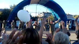 Украинский военный оркестр в Славянске 1.09.16