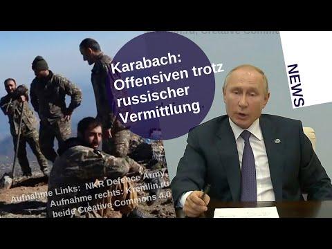 Karabach: Offensiven trotz russischer Vermittlung [Video]