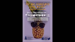 Thankfulness with Steve Vaughan - TCDCU Podcast MT/WK9/2017