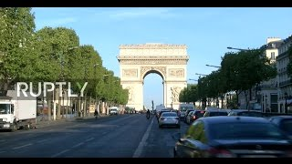 LIVE from Champs Elysees as Paris wakes up to Le Pen-Macron presidential runoff