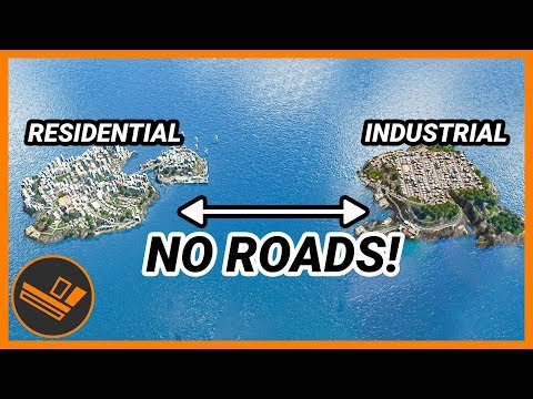 Two Islands with ONLY Boats Connecting them! - Cities: Skylines CHALLENGE