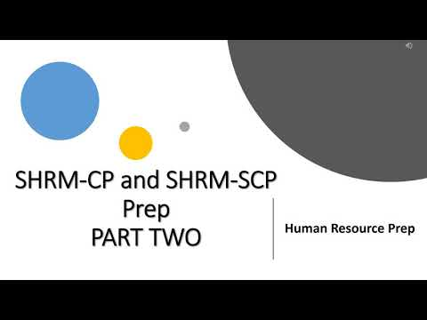 SHRM CP SHRM SCP Certification Exam. Exam Prep. PART TWO ...