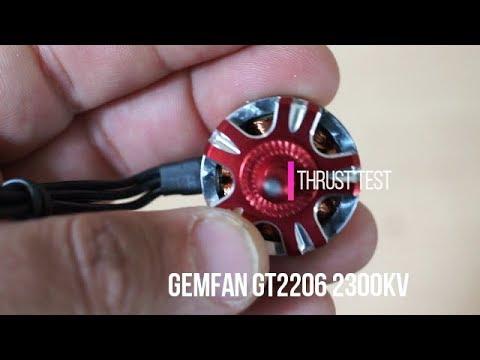 Gemfan GT2206 2300KV thrust test