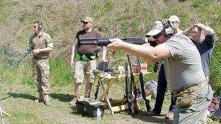 Развлекательная стрельба пулевым патроном   Помповое ружье 12 калибра
