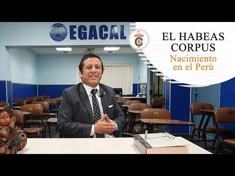 HABEAS CORPUS: Nacimiento en el Perú - Efemérides Jurídicas - TC187