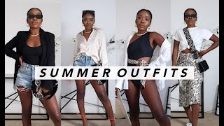 SUMMER OUTFIT IDEAS! Styling Summer 2020 Fashion Trends | Casual + Dressy Summer Lookbook