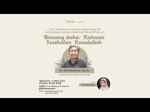 Farah Zoomtalk Spesial Ramadhan • Bincang Buku Rahasia Kesehatan Rasulullah