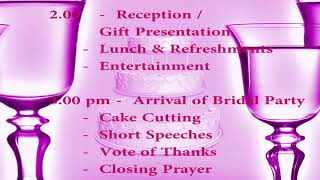 ANN AND FESTUS WEDDING PROGRAM