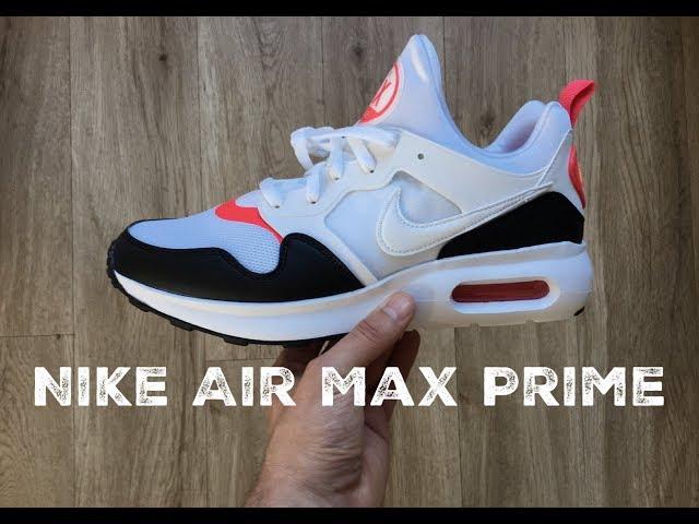 buy online 26e2b 8bb91 Nike Air Max Prime  white white-siren red black    UNBOXING   ON FEET    fashion shoes   2017   HD 02 32 225