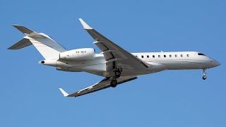 preview picture of video 'LONDON LUTON AIRPORT, Biz Jets Gulfstream Take Off & Landing'