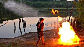 ✅ОГНЕДЫШАЩАЯ  КОЛА ! Огненная ракета из Кока-Колы заправленной газом