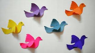 3D Paper Birds Making Tutorial - DIY Crafts ||3D Room Decor || Paper Pigeons Making