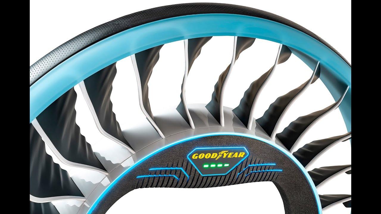 Новые шины Goodyear смогут превращаться в винты для летающих машин