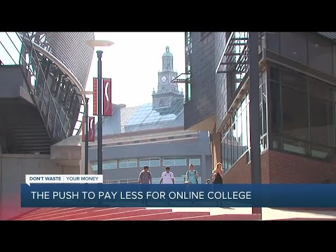 The push to pay less for online college