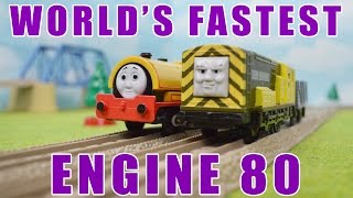 World's FASTEST Engine 80: THOMAS AND FRIENDS Toy Trains Video For Children