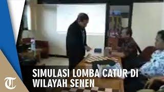 Suasana Simulasi H-2 Lomba Catur Antar Kelurahan di Wilayah Kecamatan Senen Jakarta Pusat