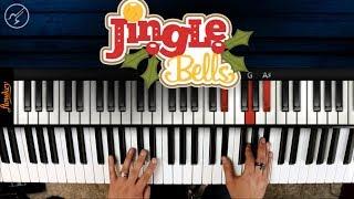 Jingle Bells PIANO Notas Musicales | Villancicos Navideños en Piano