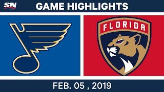 NHL Highlights | Blues vs. Panthers - Feb. 5, 2019