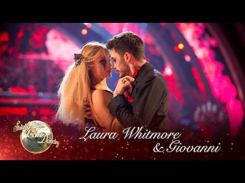 Laura Whitmore and Giovanni Pernice Tango to 'Paint It Black' – Strictly 2016: Halloween Week