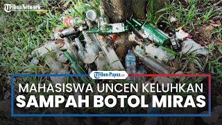 Mahasiswa FKM Uncen Keluhkan Maraknya Sampah Botol Miras di Lingkungan Kampus
