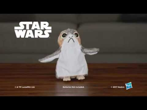 Produktvideo Hasbro Star Wars: The Last Jedi   Porg Electronic Plüsch Spielzeug