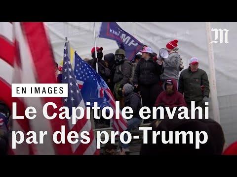 Le Capitole envahi : des centaines de pro-Trump forcent l'entrée du congrés américain Le Capitole envahi : des centaines de pro-Trump forcent l'entrée du congrés américain