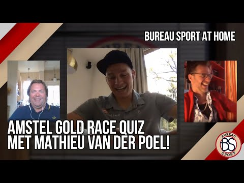 Video | Mathieu van der Poel speelt Amstel Gold Race quiz met Bureau Sport