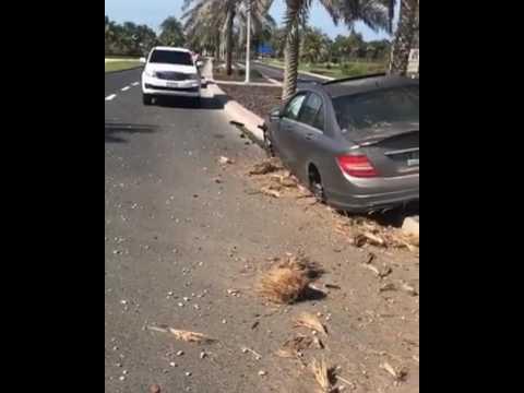 c63 amg crash in dubai