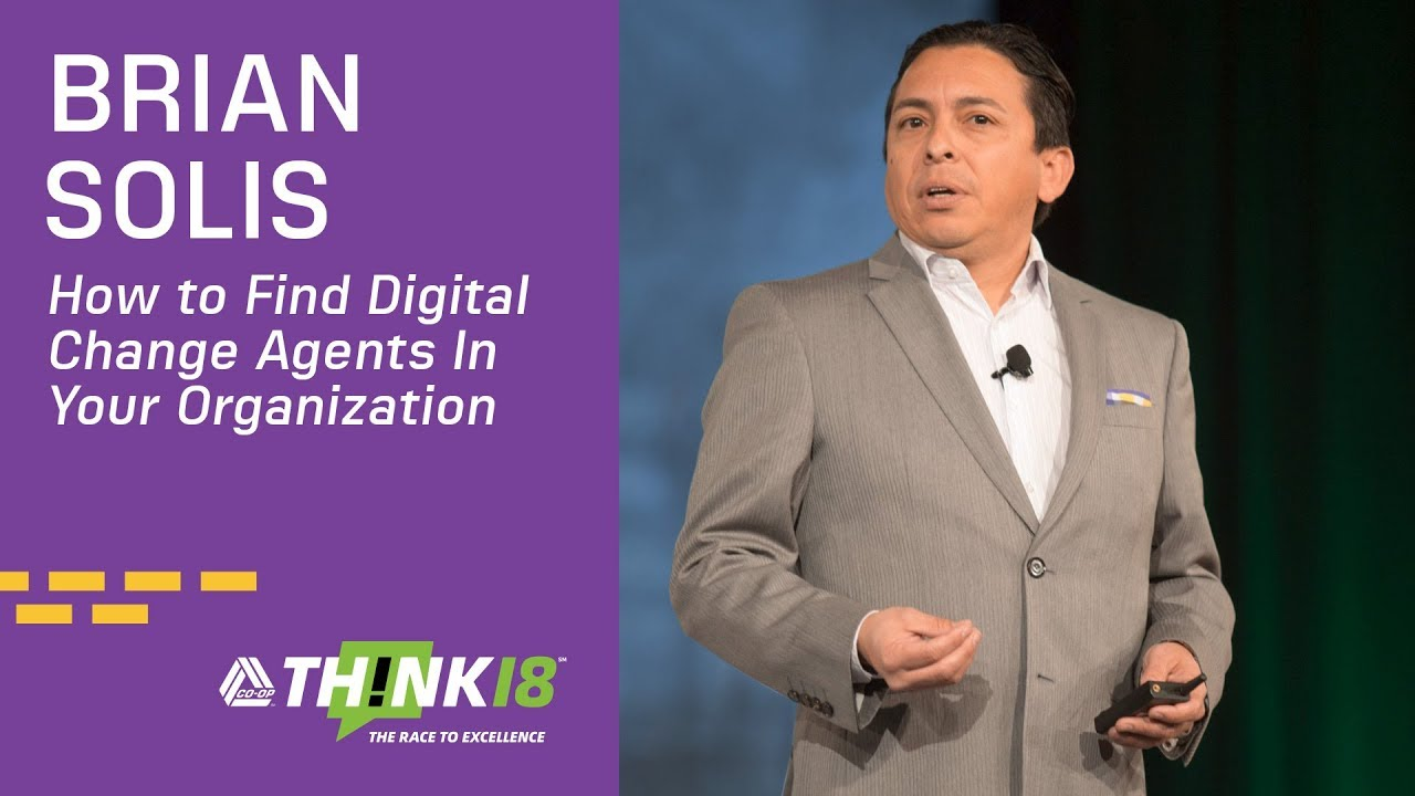 - Brian Solis Explains How to Create Change Agents Within Your Organization at THINK 18: Businesses thrive on new an innovative ideas. Unlocking those ideas from within your employee base requires establishing a culture that celebrates change. Brian Solis, award-winning author, futurist and principal analyst of the Altimeter Group explains how to create change agents within your organizations.