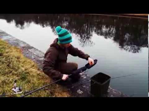 Ubriaco nellinverno su pesca