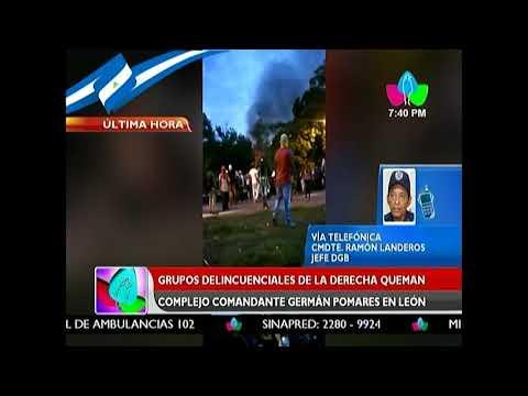 Cmdte. Ramón Landero informa sobre trabajos para controlar incendio en León