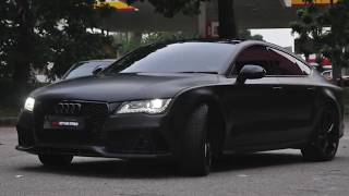 AUDI A7 WRAPPED WITH MATTE BLACK