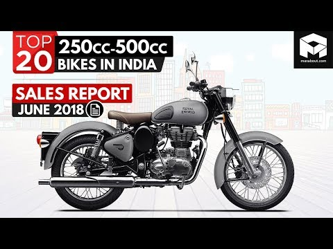 Top 20 Best-Selling 250cc-500cc Bikes In India [June 2018]