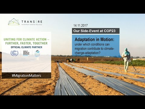 Adaptation In Motion - Side Event At COP23 Mp3