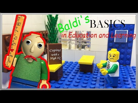 LEGO Мультфильм Baldi /  Baldi's Basics in Education and Learning / LEGO Stop Motion (видео)