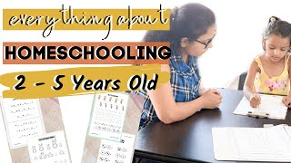 WHAT and HOW to Teach 2-5 Years Old At Home | HOMESCHOOLING PRESCHOOLER & PRE - K