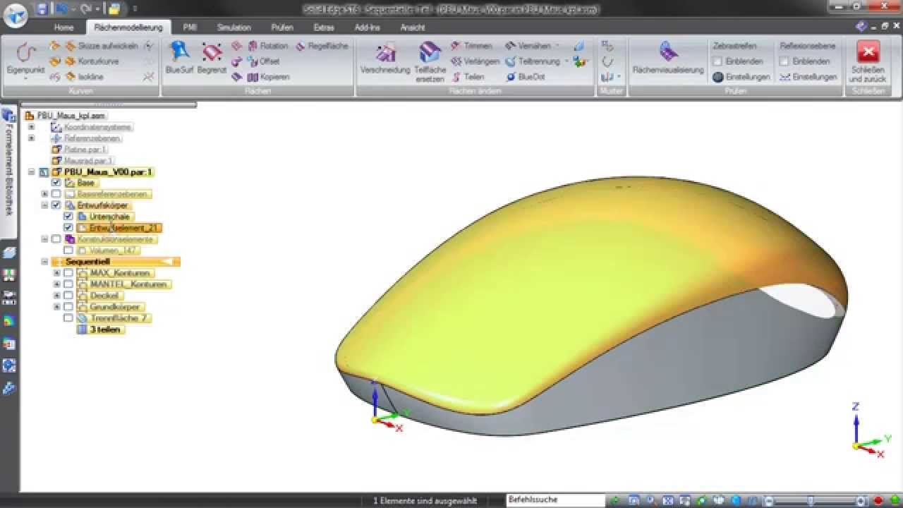 Vorschaubild: Solid Edge Tutorial: Multibody-Design