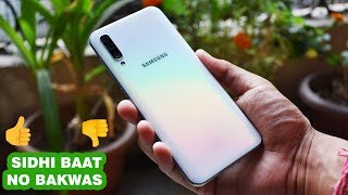 Samsung Galaxy A50 Full Review SIDHI BAAT NO BAKWAS! PROS 👍 AND CONS 👎