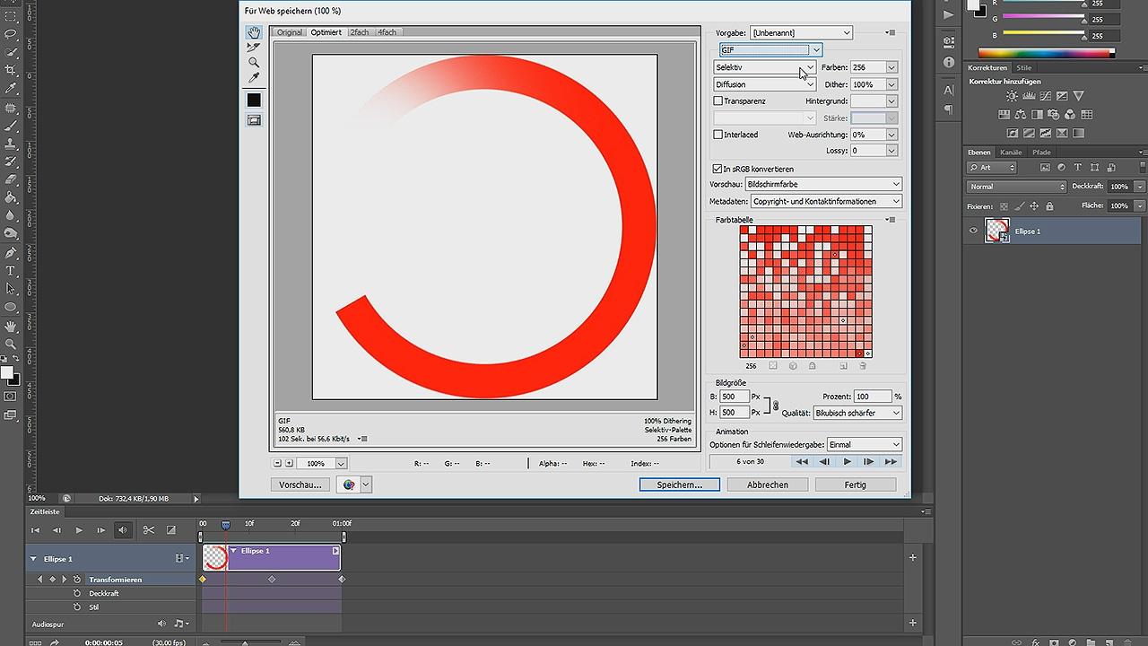 GIF-Preloader Animation erstellen – Photoshop-Tutorial