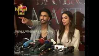 Ranveer Singh & Deepika Padukone at the 'Gajanana' Launch of 'Bajirao Mastani' Part  3