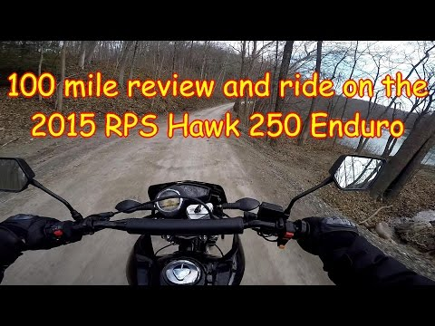 100 mile review and ride on the RPS Hawk 250 Dual Sport enduro