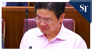 Minister Lawrence Wong's emotional thanks to frontline-workers fighting Covid-19 in Singapore