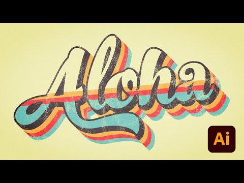 illustrator tutorials retro striped ripple text effect using adobe illustrator