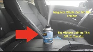 Meguiars Whole Car Air RE-Fresher How To Get Rid Of Bad Smells In Any Car Easy And Effective