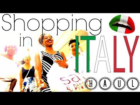 Video Shopping in Italy   Souvenir HAUL