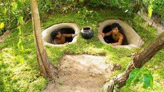Build underground hidden house in the forest