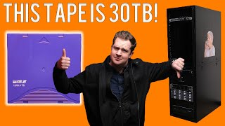 THIS $130 TAPE CAN HOLD 30TB!
